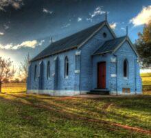 Country church, Cowra.  Sticker