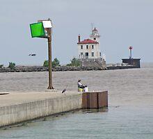 Fairport Harbor Breakwater Lighthouse by Jack Ryan