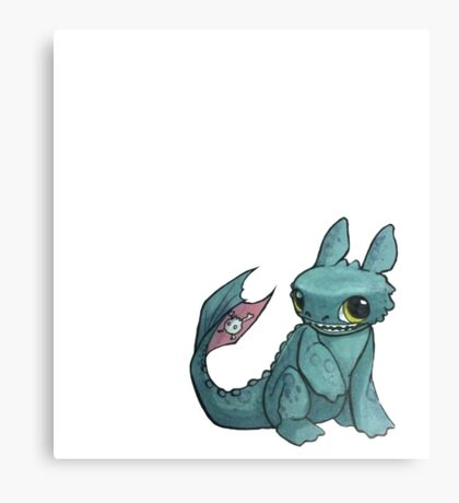 Toothless in Marker Canvas Print