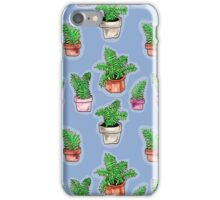 watercolor potted ferns iPhone Case/Skin
