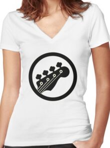 Black Bass Women's Fitted V-Neck T-Shirt
