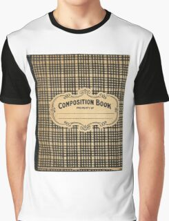 Vintage Checked Composition Notebook Cover Graphic T-Shirt