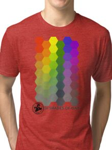 50 Shades of Gay Hex Style Tri-blend T-Shirt