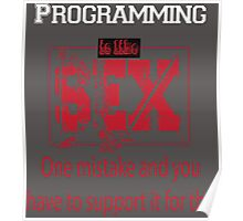 Programming is like sex one mistake and you have to support it for the rest of your life Poster
