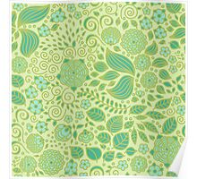 Summer Green Chamomiles Poster