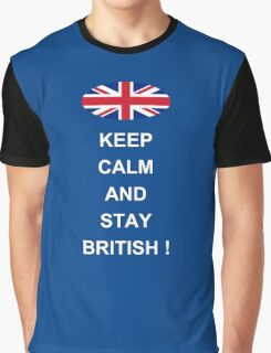 Keep Calm And Stay British Graphic T-Shirt
