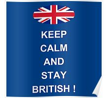 Keep Calm And Stay British Poster