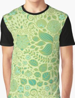 Summer Green Chamomiles Graphic T-Shirt