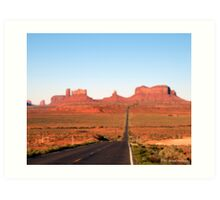 On  the road to Monument Valley. Look familiar? Art Print