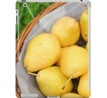 Pears in a basket iPad Case/Skin