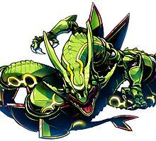 Pokemon : Rayquaza FanArt by BlasterDark88