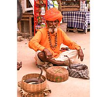 Snake charmer, Pushkar Photographic Print