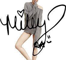 Miley Cyrus + Signature by joshgranovsky