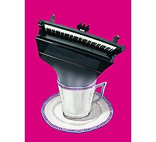 Music is Everyone's Cup of Tea -Grand Piano Photographic Print