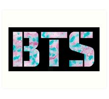 Pink and Blue BTS Art Print