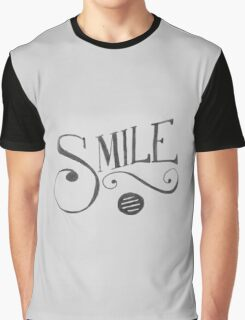Smile Typography Graphic T-Shirt