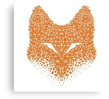 Fox Crumble Canvas Print