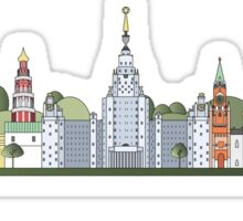 Moscow skyline colored Sticker