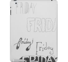 Friday Illustration  iPad Case/Skin