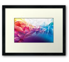 Multicoloured awesome pattern Framed Print