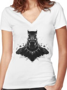 Panther Ink Women's Fitted V-Neck T-Shirt