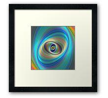 Hypnotic eye Framed Print
