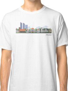 Munich skyline colored Classic T-Shirt