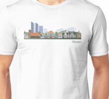 Munich skyline colored Unisex T-Shirt