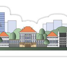 Munich skyline colored Sticker