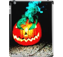 Smoke Bomb Pumpkin - Green iPad Case/Skin
