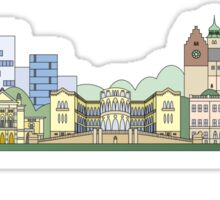 Oslo skyline colored Sticker
