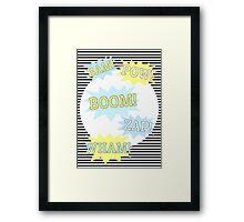 Batman - Pow, Boom, Wham Framed Print