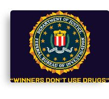 WINNERS DON´T USE DRUGS - ARCADE SLOGAN Canvas Print