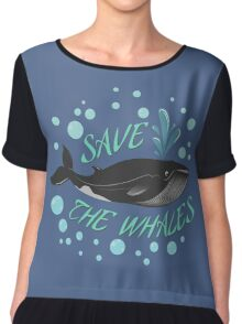 Save the whales Chiffon Top