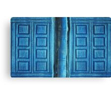 Doctor Who River Song Blue Tardis Journal Canvas Print