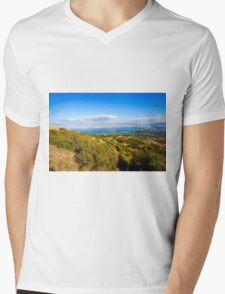 Galilee landscape, Overlooking the sea of Galilee  Mens V-Neck T-Shirt