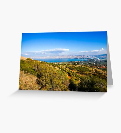Galilee landscape, Overlooking the sea of Galilee  Greeting Card