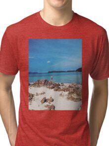 BEACH. Tri-blend T-Shirt