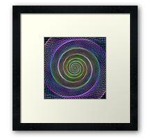 Filigree spiral structure Framed Print