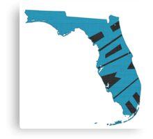 Florida HOME state design Canvas Print