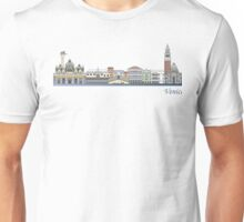 Venice skyline colored Unisex T-Shirt