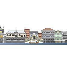 Venice skyline colored by paulrommer