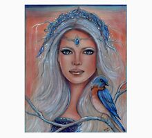 Blue bird fay fantasy art portrait by Renee Lavoie Unisex T-Shirt