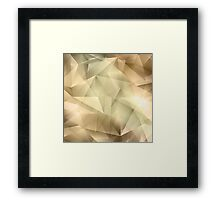Abstract Crystal Background Framed Print
