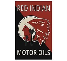 Red Indian Motor Oils Photographic Print