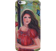 Forbidden fruit fairytale art by Renee Lavoie iPhone Case/Skin