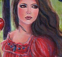 Forbidden fruit fairytale art by Renee Lavoie Sticker