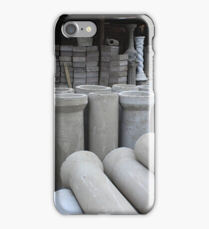 Concrete Pipe Factory iPhone Case/Skin