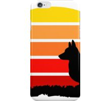 Corgi on Sunset Beach iPhone Case/Skin