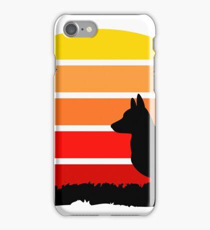 Corgi on Sunset Beach iPhone Case/Skin